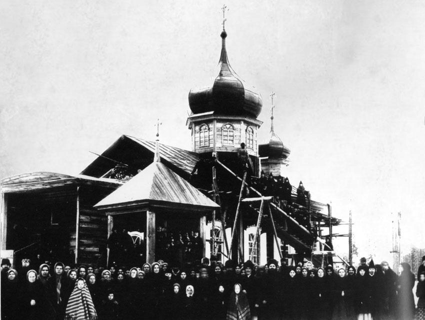 Алексиевская церковь Бобровской женской обители во время освящения