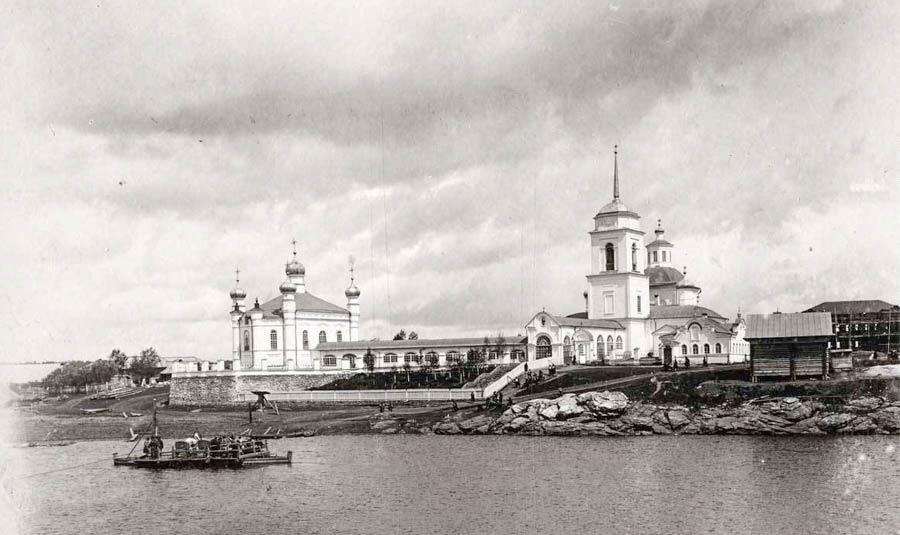 Храмовый комплекс в Меркушино в начале XX века