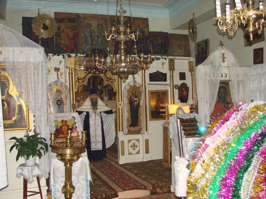Во время службы в Вознесенском храме