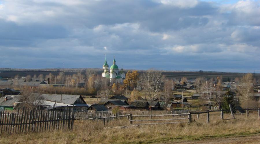 Быньговский пейзаж со Свято-Николаевским храмом