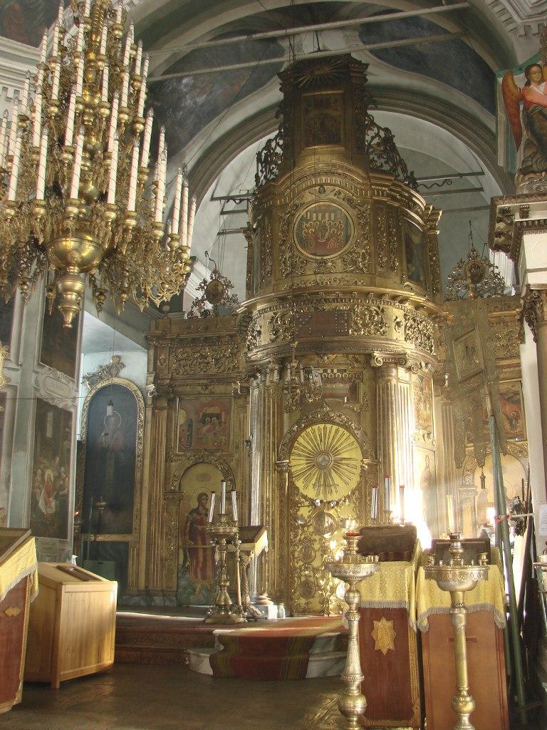 Иконостас Свято-Николаевского храма в Быньгах
