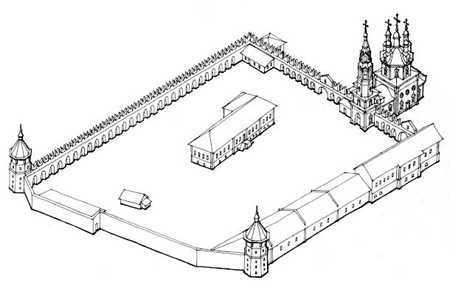 Верхотурский кремль и Свято-Троицкий собор: реконструкция изначального вида в начале XVIII века