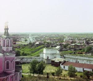 1912 год. Вид с колокольни Далматовского монастыря
