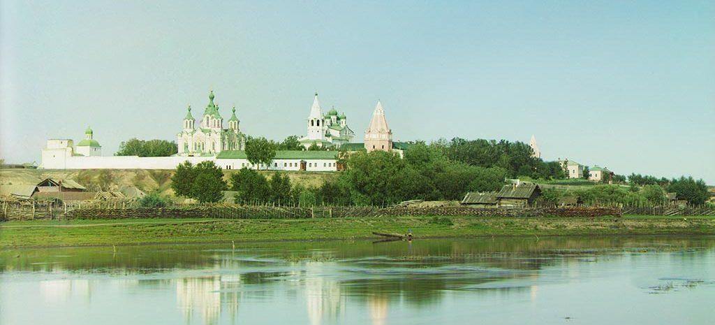 Вид на Далматов монастырь в начале XX века
