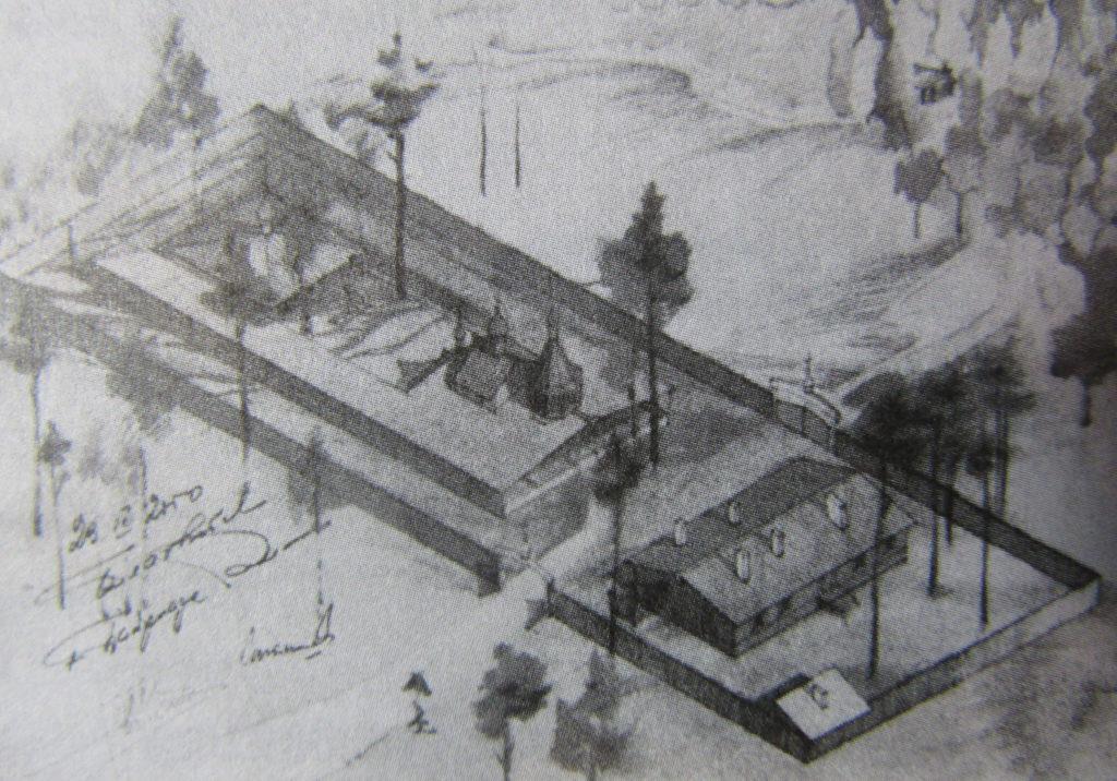 Первый проект монастыря на Ганиной яме