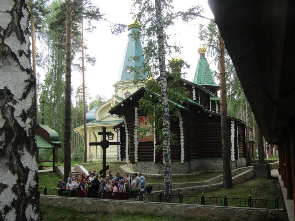 Во время экскурсии у Поклонного креста