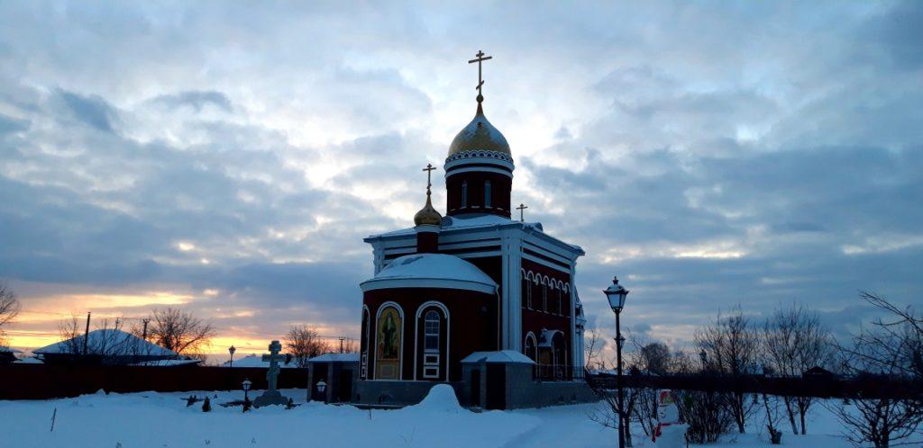 Храм во имя святой преподобномученицы Елисаветы Феодоровны в Алапаевске зимой
