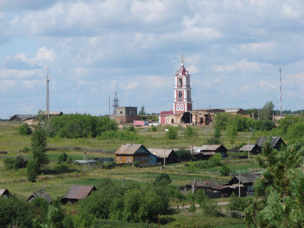 Вид на храм Георгия Победоносца с Мироновских скал