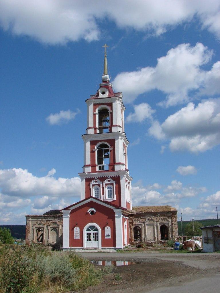 Георгиевский храм в Мироново в начале XX века
