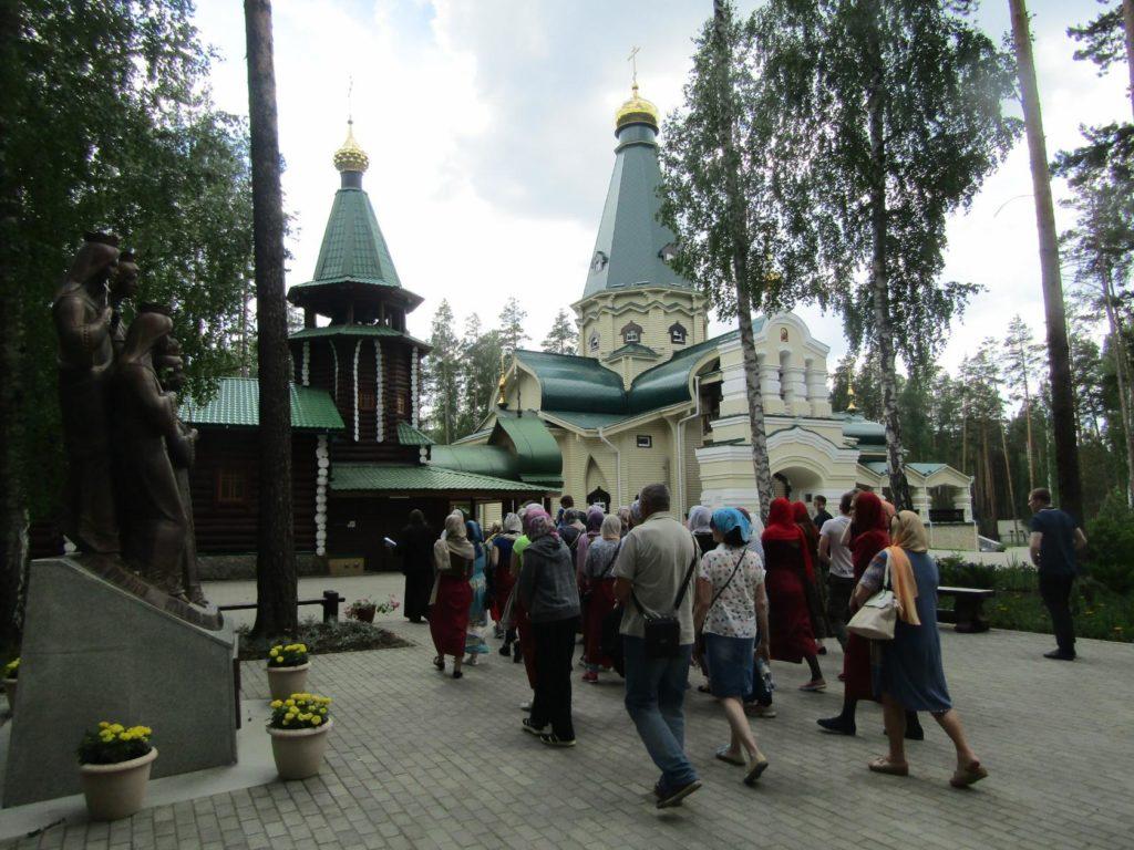 В монастыре Во имя святых царственных страстотерпцев в наши дни