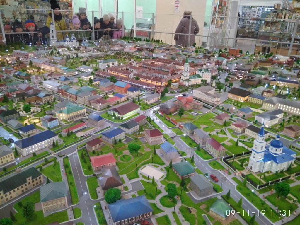 Ирбит: достопримечательности -  Ирбите представлен макет города будущего, где современность объединена с утраченным