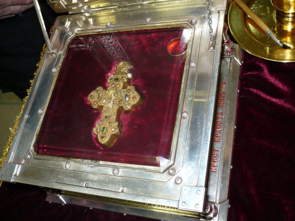 Крест-мощевик главная святыня храма Во имя святых царственных страстотерпцев