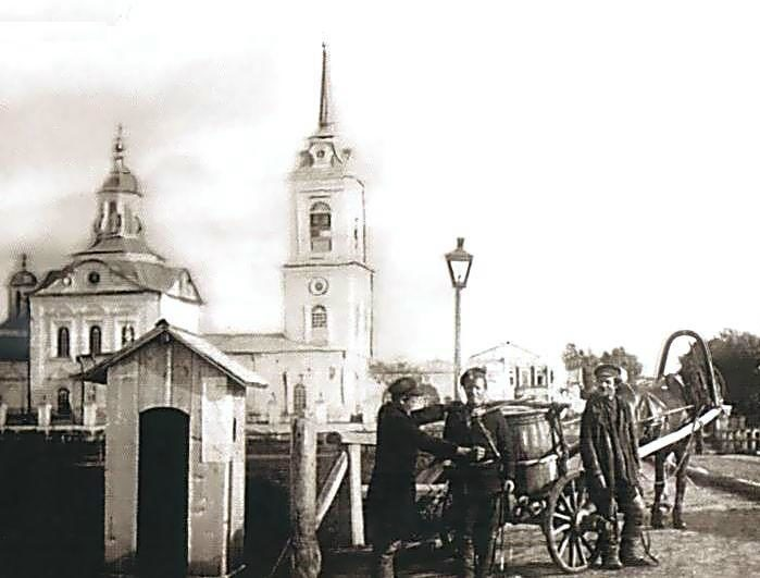 Спасская церковь в Туринске в начале XX века