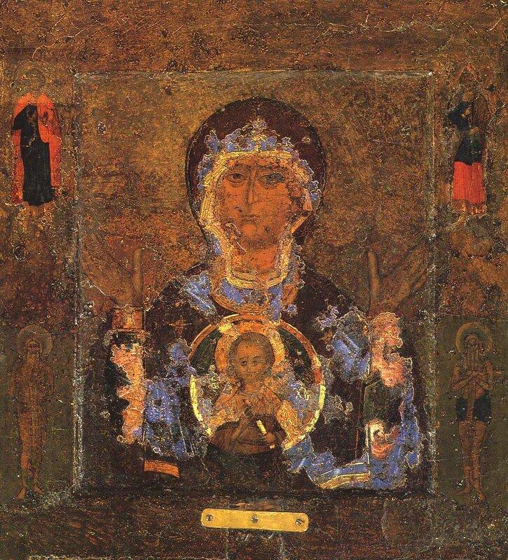 """Новгородская икона """"Знамение"""" Божией Матери"""