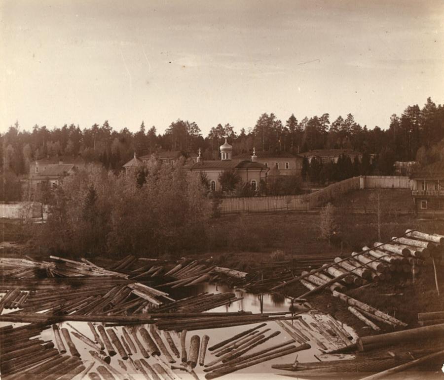 Монастырская заимка на Актае в 1909 году