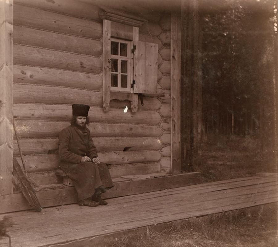 Старец Макарий на Актае, фото 1909 года