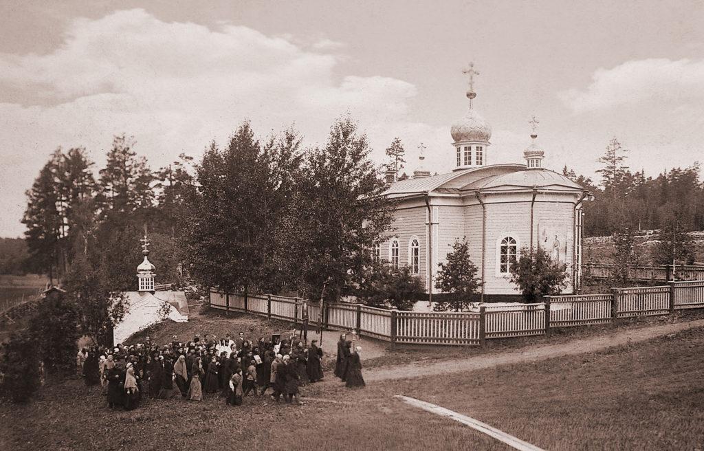 Храм во имя Божией Матери Живоносный источник на Актае до революции