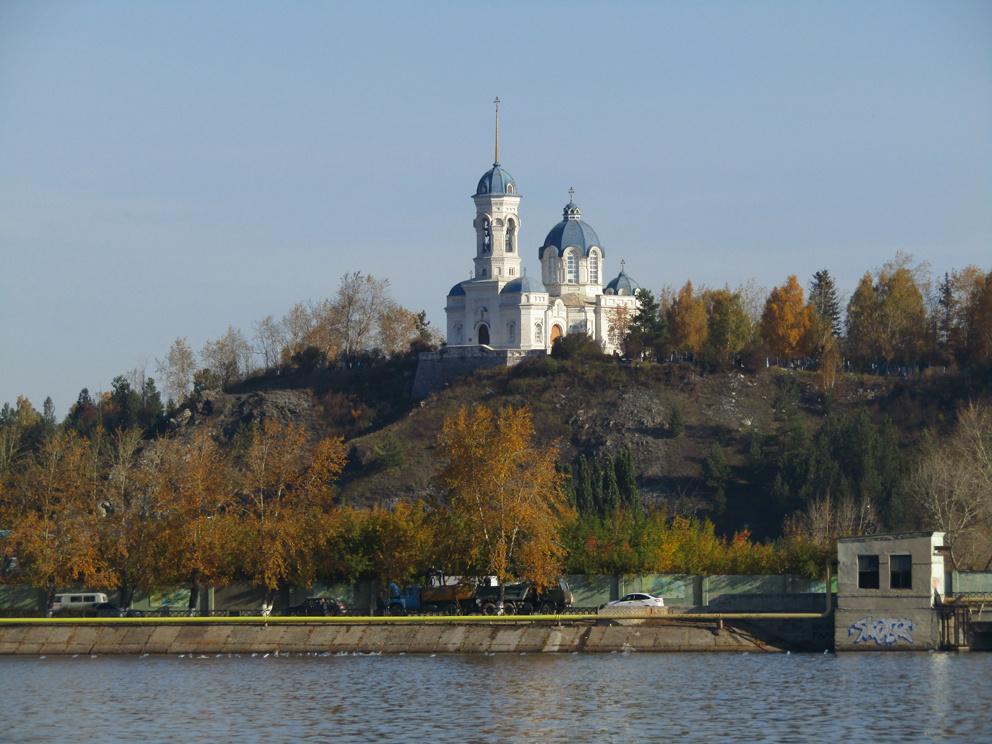 Церковь Иоанна Предтечи со стороны Режевского пруда