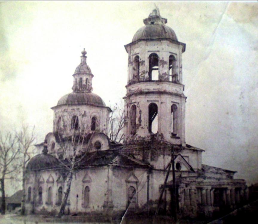 Соборо-Богородицкая церковь в селе Невьянское в советские годы