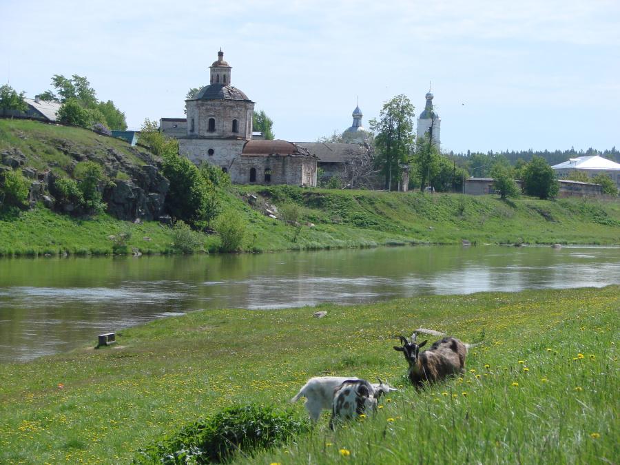 Пейзаж с Покровским монастырем в Верхотурье