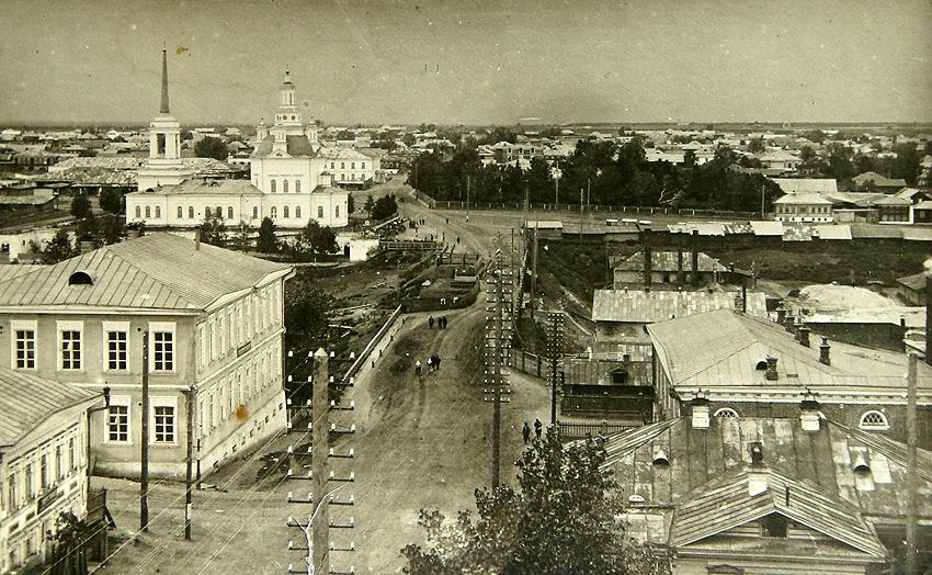 Дореволюционный вид на исторический центр Алапаевска