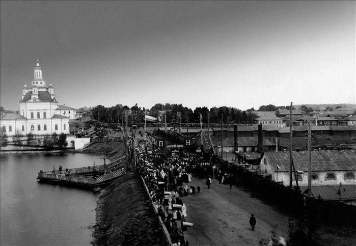 Фото начала XX века. Старая плотина и пруд на Алапаихе