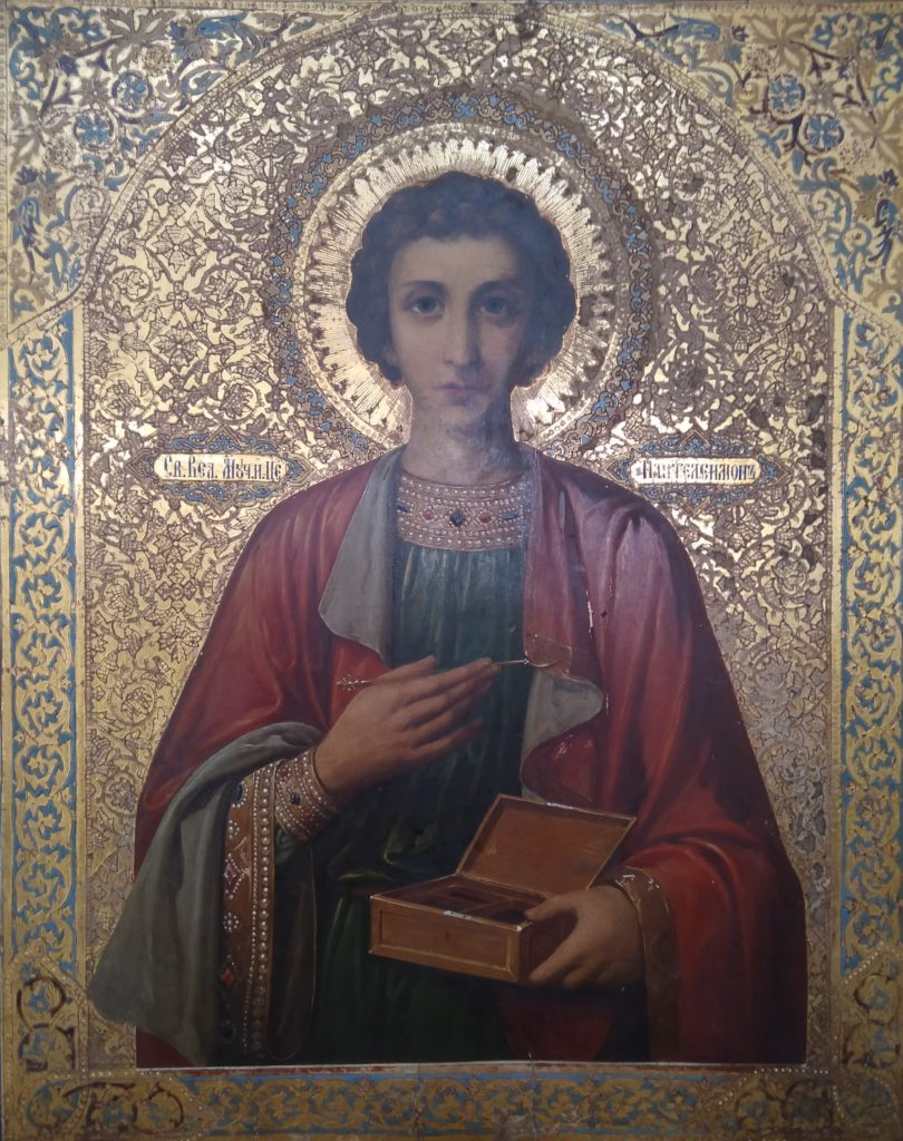 Почитаемый образ великомученика Пантелеимона
