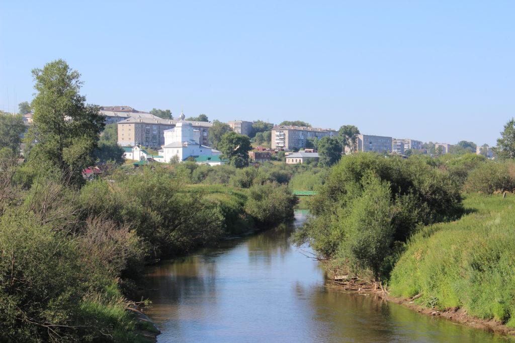 Вид на Свято-Троицкий монастырь с речки Усолки