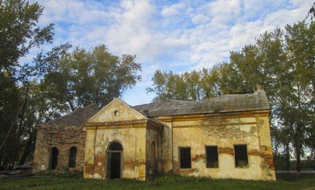Богоявленский храм в Кочневском до начала его реставрации