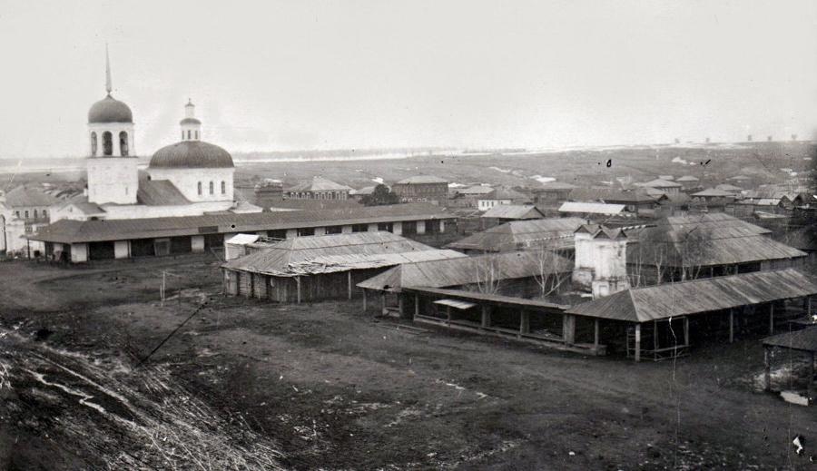 Петропавловский храм в Куртамыше в начале XX века