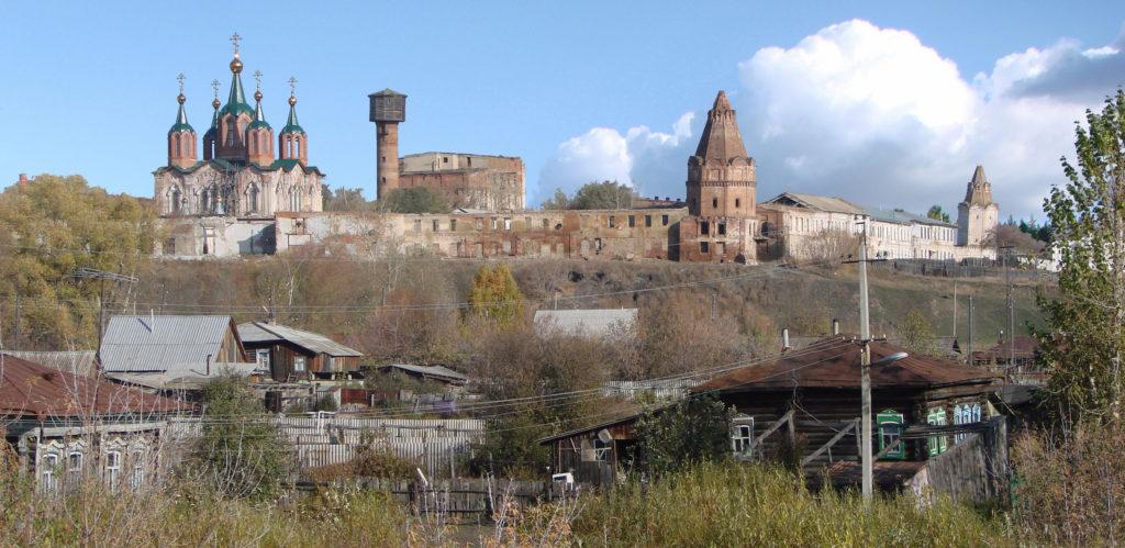 Общий вид на монастырь в 2008 году