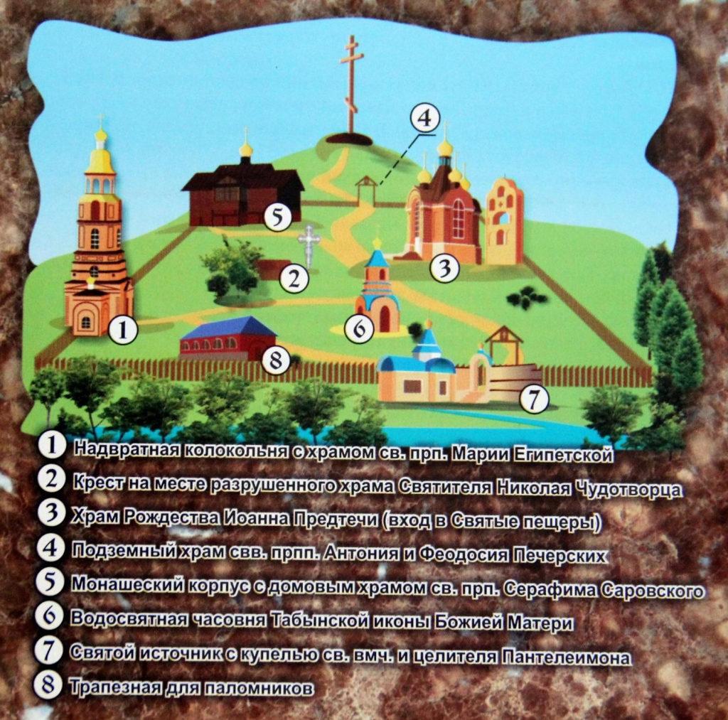 Современный план монастырского комплекса