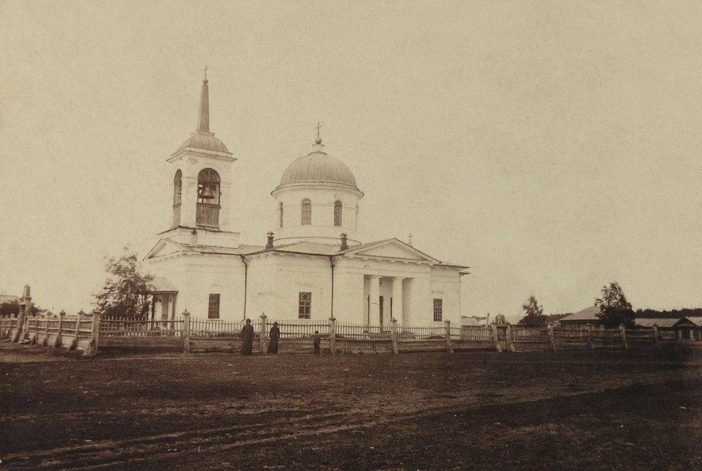Богоявленский храм в Утятском в конце XIX века