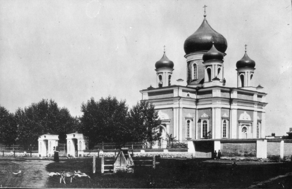 Свято-Троицкий храм в Невьянске в начале XX века