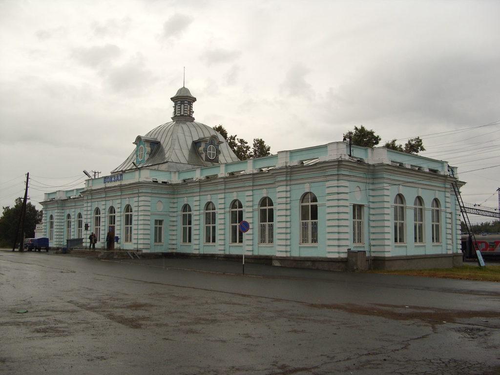 Здание вокзала в Красноуфимске