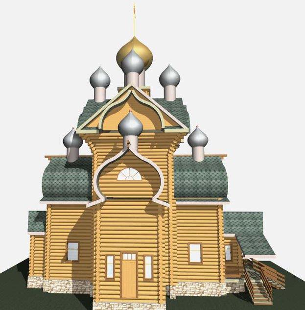 Деревня Панова: храм Трех святителей (проект)