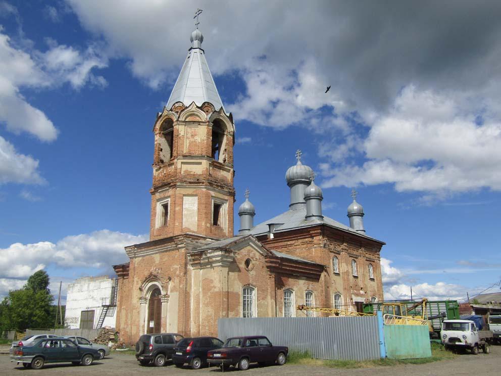 Село Шадринка Байкаловского района: храм Петра и Павла