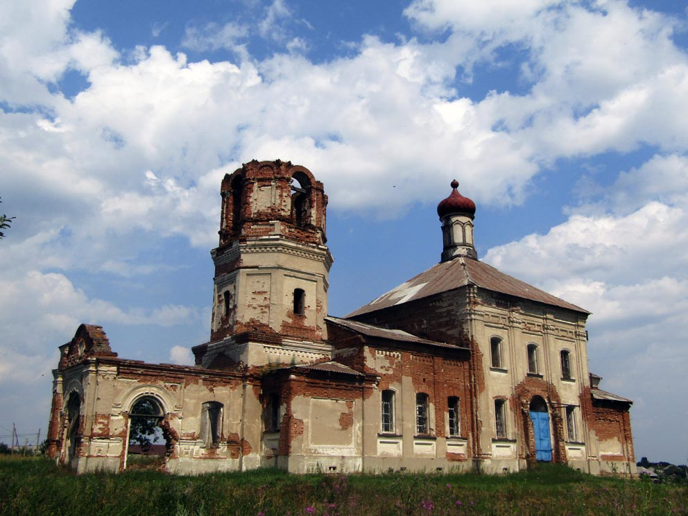 Село Ялунинское: храм Николая Чудотворца