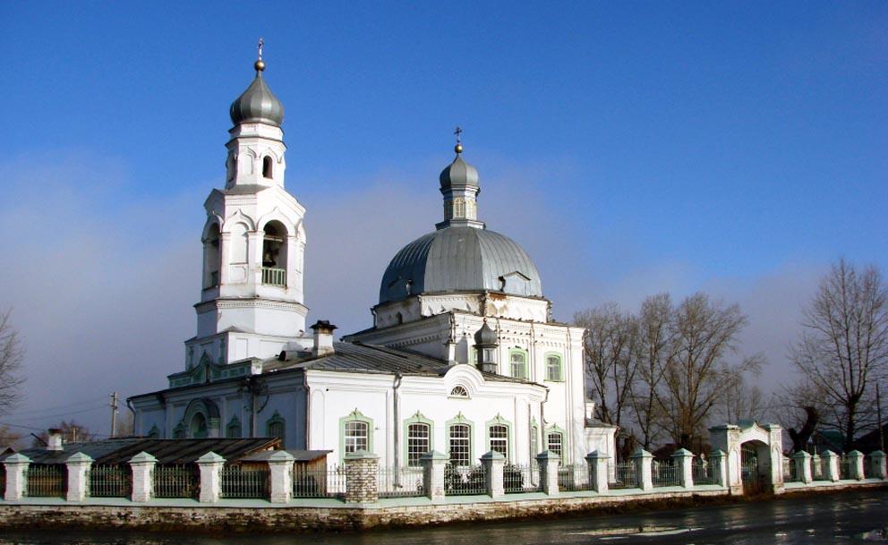 Храм cвятителя Николая Чудотворца в Николо-Павловском в 2010 году