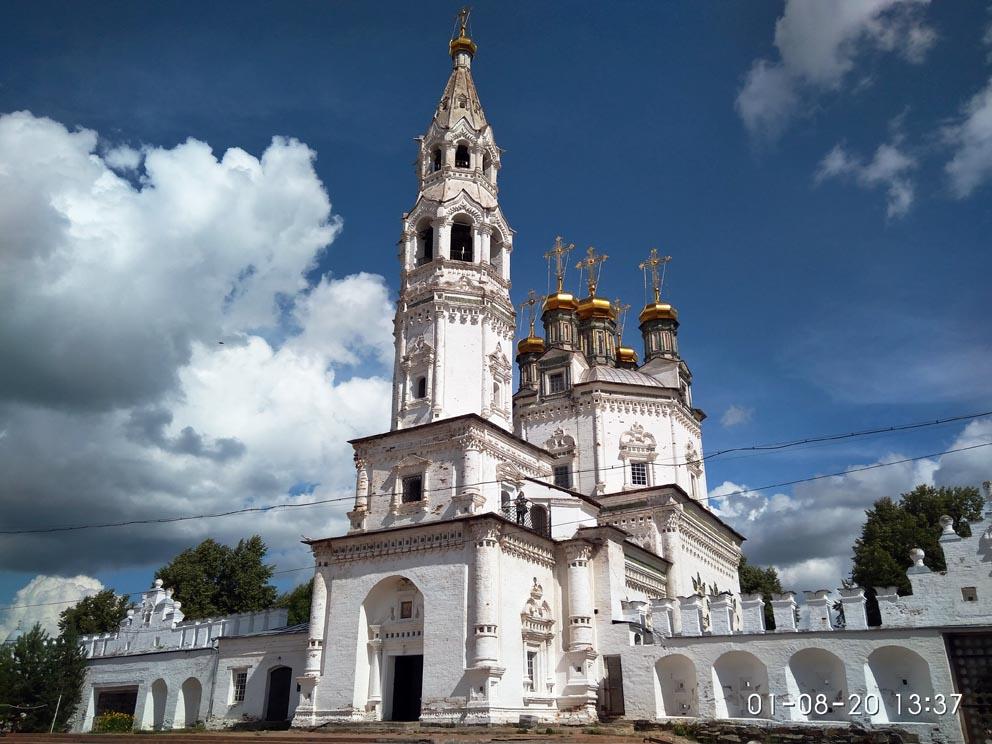Верхотурский кремль и Свято-Троицкий собор с территории кремля