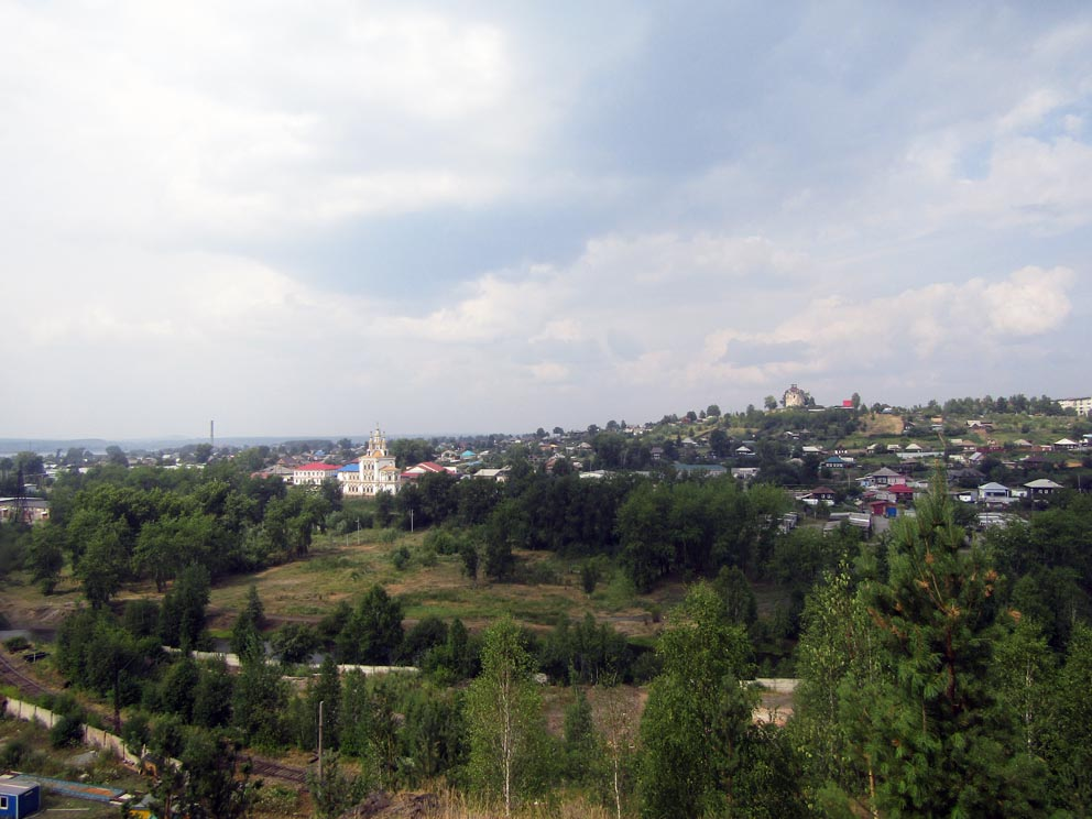 Карпинский пейзаж с храмом Иоанна Богослова
