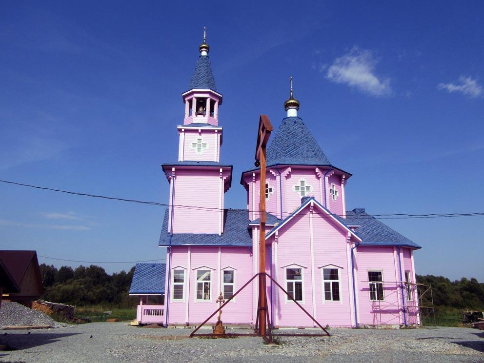 Деревня Новоселова: храм Илии пророка