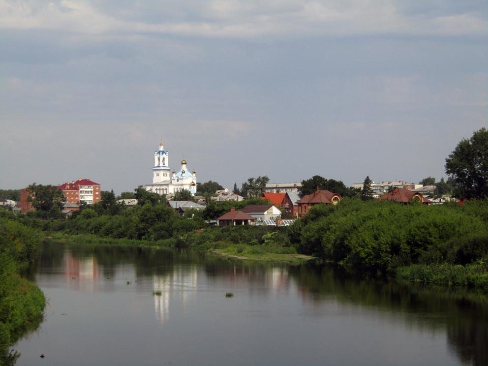 Вид на Камышлов из Заречной части города